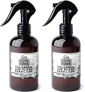 Cute Farms Tillandsia Air Plant Fertilizer | Gentle Daily Use Formula Plant Food (Two - 8 oz. Spray Bottles)