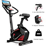 HARISON Stationary Upright Exercise Bike with 14 Levels Magnetic Resistance for Indoor Home Gym Cardio Workout 350 LBS Capaci