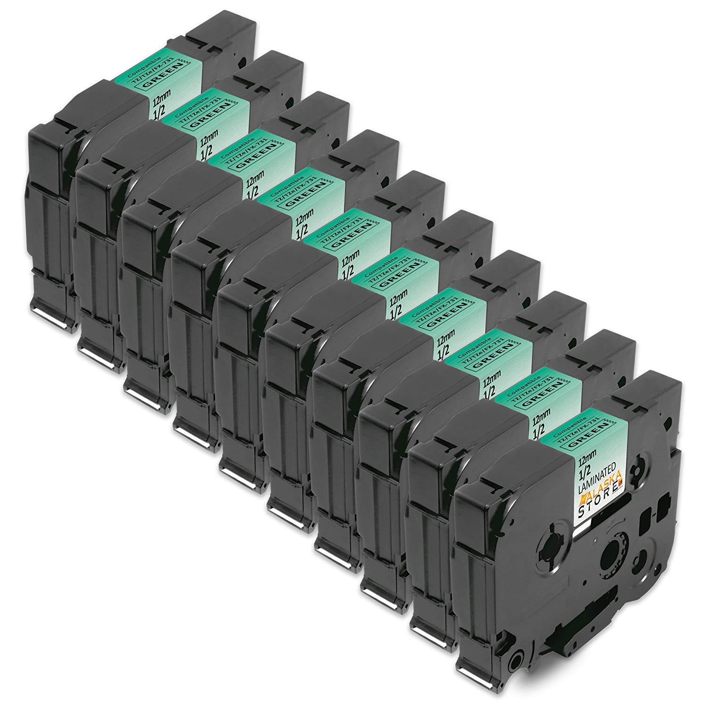 5X SchriftbandKassette Brother P-Touch f/ür Tape TZE-731 TZE731 TZ-731 TZ731 TZ 731 12mm Schwarz auf Green f/ür Brother P-Touch 1000W 1010 1090 1830VP 2030VP 2100VP 2430PC 2470 2730VP