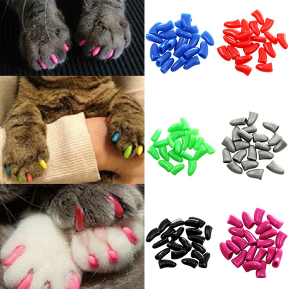 Fundas suaves de protección para uñas de gato Pu Ran®, 20 unidades: Amazon.es: Productos para mascotas