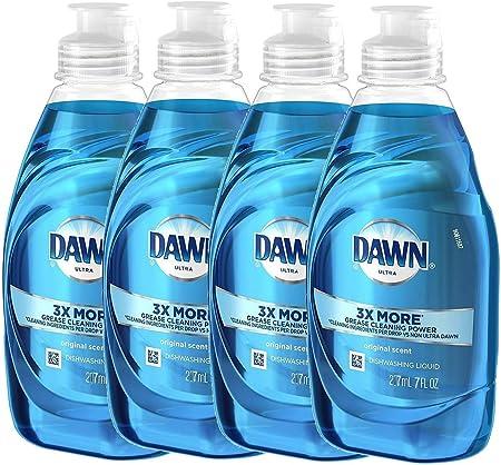Dawn Ultra Mini 4-Pack of Original Scent, 7 oz Bottles: Collegiate Bundle