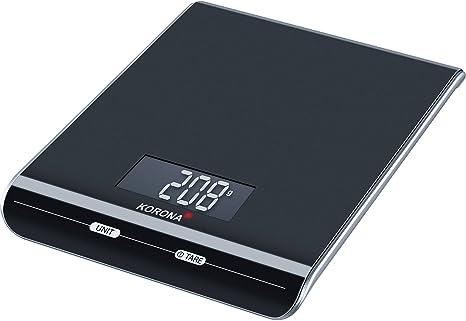 Korona 4825436, Negro, 150 x 200 x 24 mm - Báscula de cocina