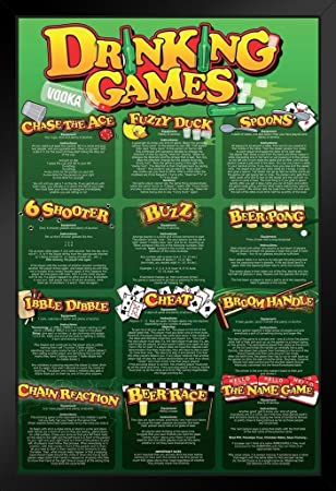 Drinking Games College Framed Poster 12x18