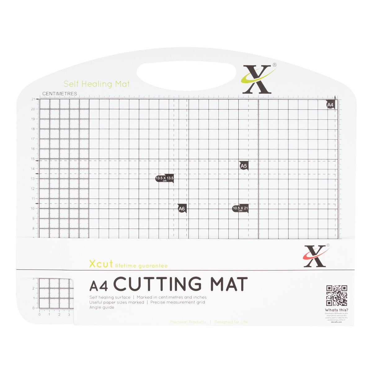 Xcut A4 Self Healing Duo Cutting Mat, Black/White Docrafts XC268431