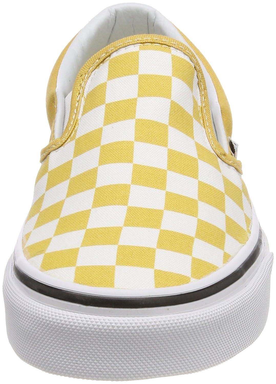 Vans Unisex Classic Slip-On (Perf Leather) Skate Shoe B074HBM3GN 9.5 D(M) US|Ochre / True White