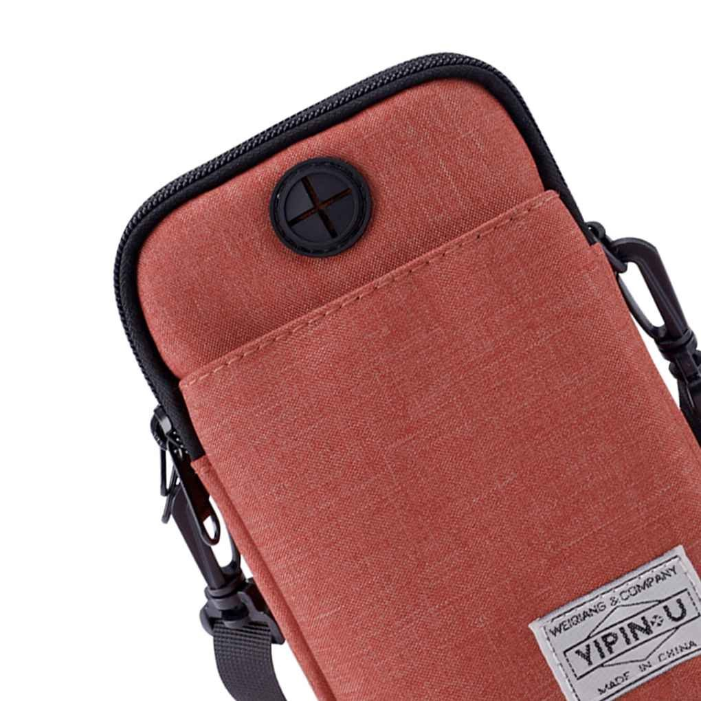 Bobury YIPINU Men Women Waterproof Messenger Shoulder Bag Waist Storage Handbag Mobile Phone Packs Sports Purse Pouch Wallet