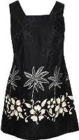 Robert J. Clancey Women's Hibiscus Bottom Band Cotton a Line Short Tank Dress