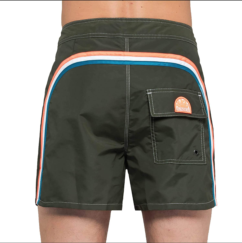 "Men/'s Custome Sundek Fluo Orange Orange Low Rise 14 /"" Shorts Bermuda Sea"