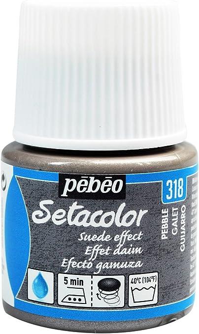 PEBEO Setacolor - Pintura para Tela (Efecto Gamuza, 45 ml), Color Gris