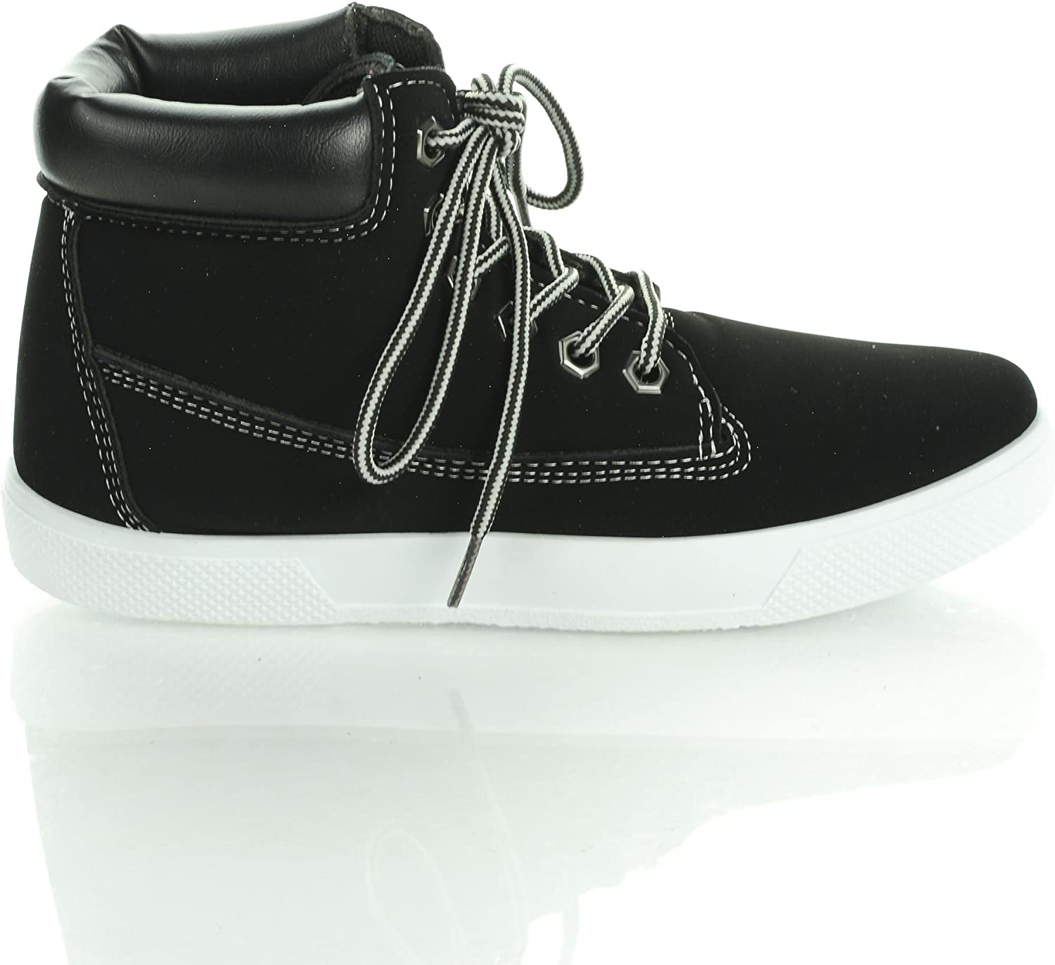 Boot Lace Up Flat Fashion Sneaker