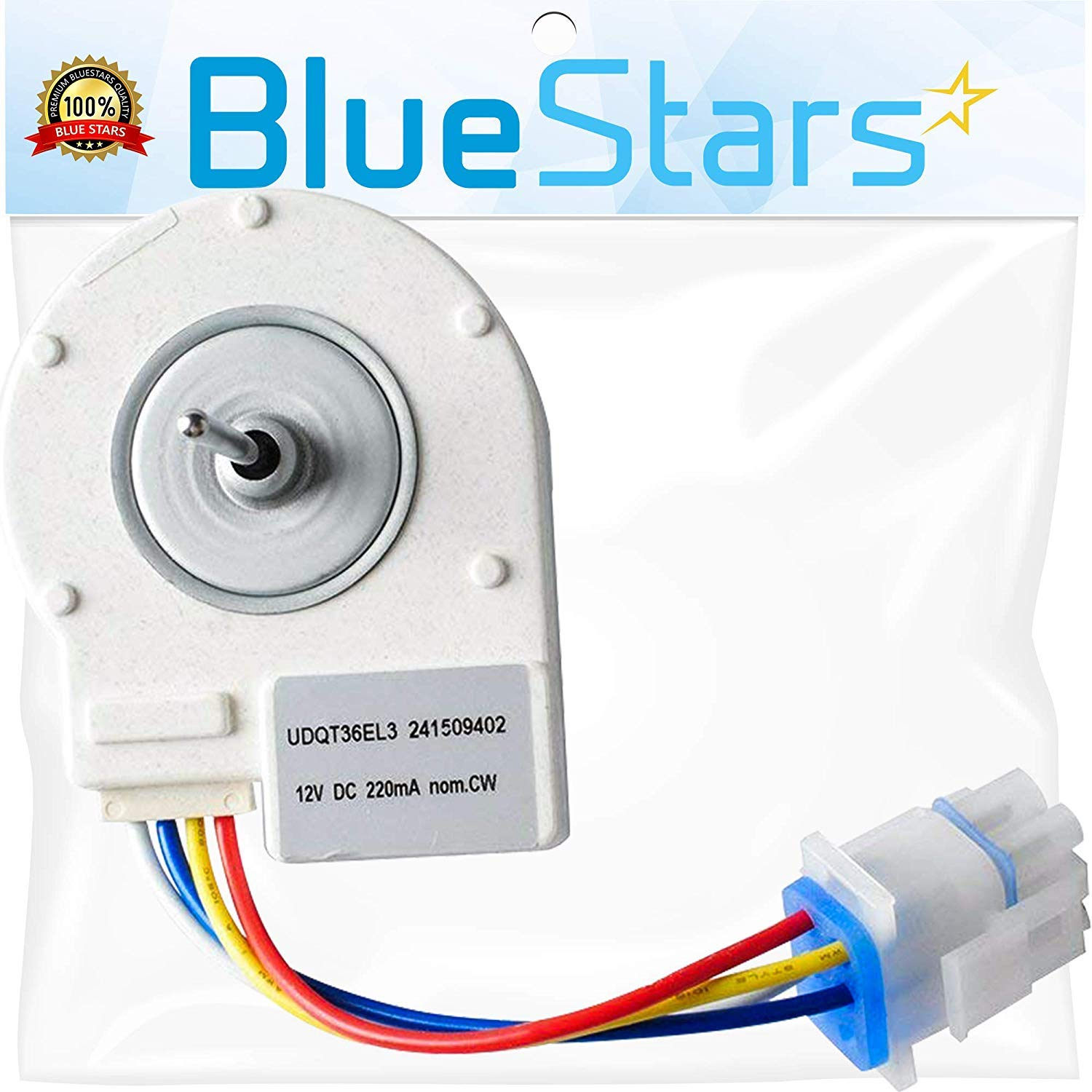 Ultra Durable 241509402 Evaporator Fan Motor Replacement Part by Blue Stars - Exact Fit for Frigidaire Electrolux Kenmore Refrigerator - Replaces 241509401 7241509402 PS1526073 BlueStars