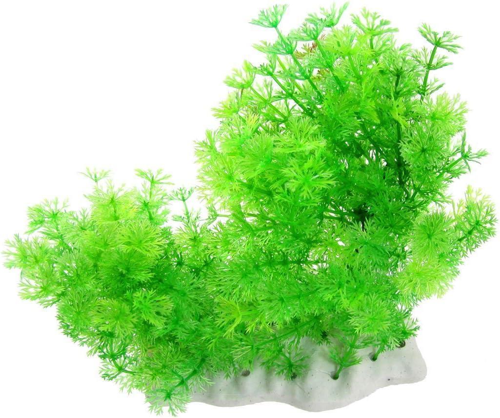 Pérgola Artificial Verde para Acuario, Copo de Nieve, Planta de plástico con Base de cerámica: Amazon.es: Productos para mascotas