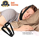 Dreamerd Anti Snoring Chin Strap,Adjustable Stop Snoring Jaw Strap Support Mouth Breathing Strap for Men and Women