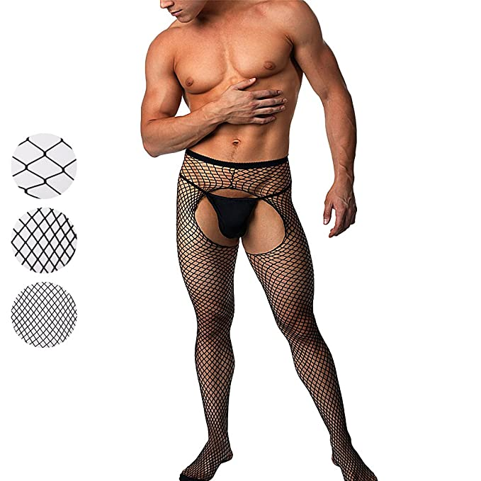 crotchless pantyhose wearing Man