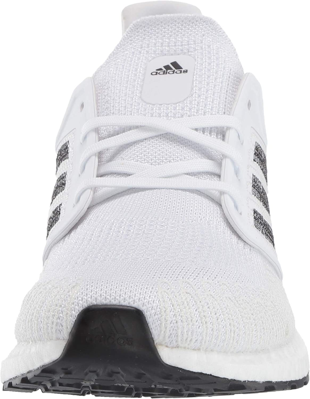 adidas Ultraboost 20, Zapatillas para Correr para Hombre Blanco Negro Coral Signal