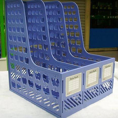 Hifeel - Archivador de plástico con 3 estantes, separadores de Archivos y organizadores para revistas