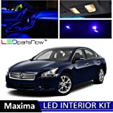 LEDpartsNow 2009-2014 Nissan MAXIMA LED Interior Lights Accessories Replacement Package Kit (17 Pieces), BLUE