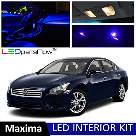 LEDpartsNow 2009 2014 Nissan MAXIMA LED Interior Lights Accessories  Replacement Package Kit (17 Pieces