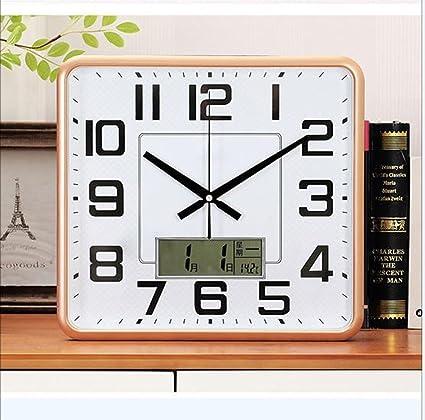 SZ Mute Reloj de Pared Reloj Digital Estilo Minimalista Moderno Reloj de Pared Preciso Adecuado para