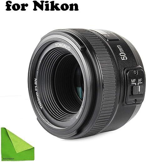 Objetivo YONGNUO YN EF50 mm f/1.8, con enfoque automático para ...