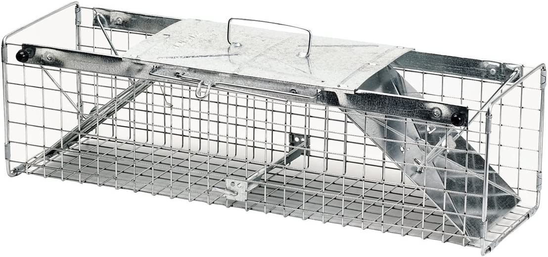 Havahart 1030 Live Animal Two-Door Rabbit, Squirrel, Skunk, and Mink Cage Trap