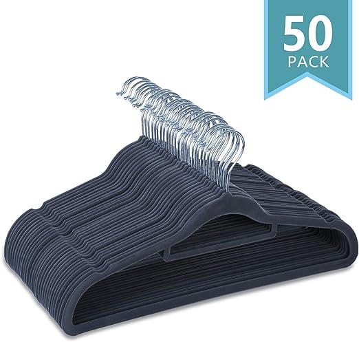 Pack of 50 with Copper//Rose Gold Hook.. MIZGI Premium Kids Velvet Hangers New