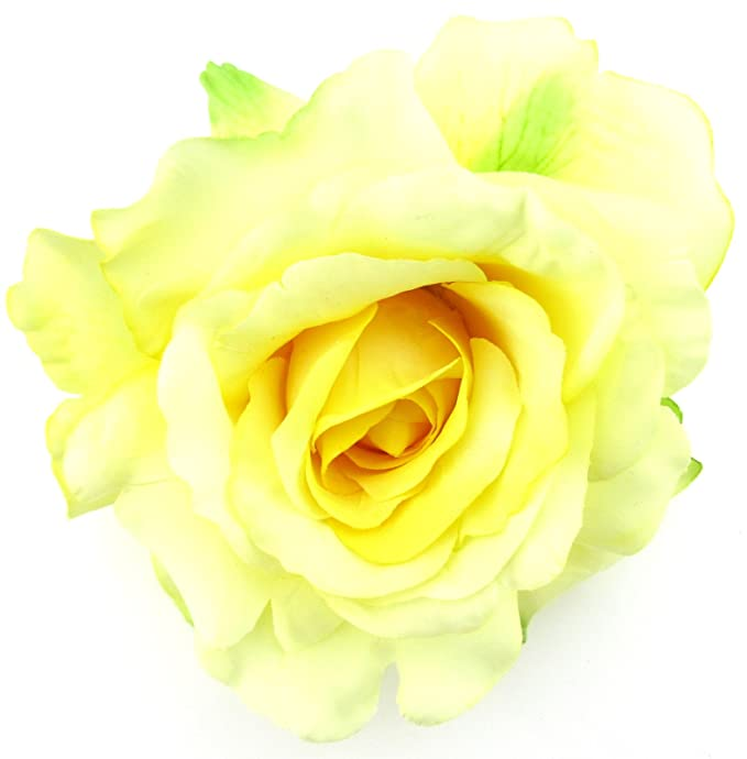 Amazon 5 yellow rose silk flower brooch pin clothing 5quot yellow rose silk flower brooch pin mightylinksfo