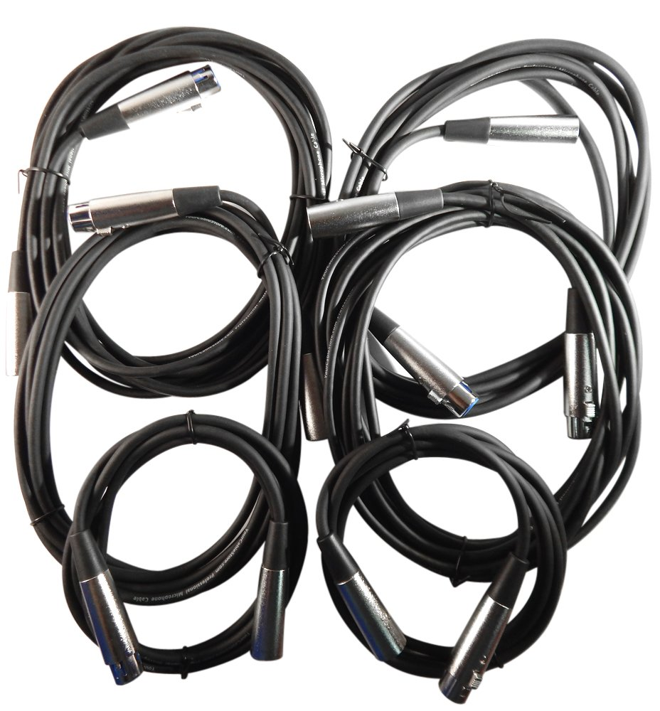 Your Cable Store XLR/Mic Cable Kit Two 6 ft, Two 10 ft and Two 15 Foot XLR Patch Cables