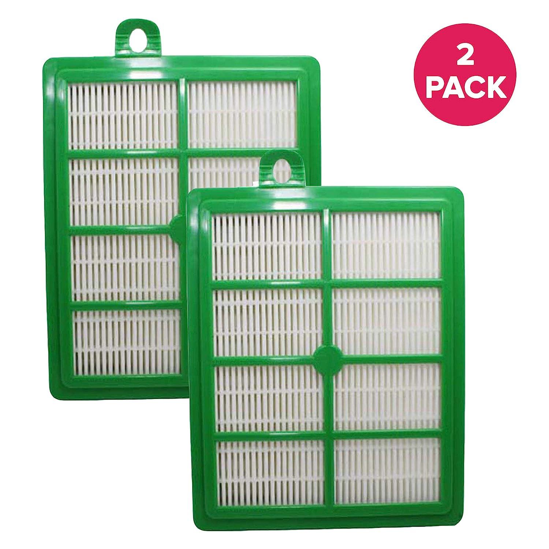 Crucial Vacuum Replacement Vacuum Filters Compatible with Part # H12, HF1, HF-1 & Models Electrolux: EL020,EL012B - Eureka: 60286,60286A,60286B,60286C - Sanitaire: EF26, EL020, EL012B (2 Pack)