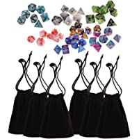 MagiDeal 49 pieces Polyhedral Dice for Dungeons and Dragons DND D20 D12 D10 D8 D6 D4 Dice Game