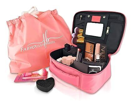 Fabyoulus - Estuche para cosméticos (4 en 1, incluye espejo ...