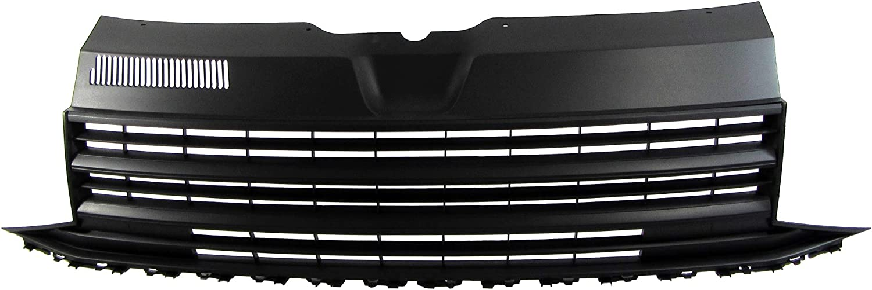 6R JOM 6R0853653OE JOM calandre de radiateur sans Sigle Compatible avec Polo 5 Qualit/é Allemande - Noir