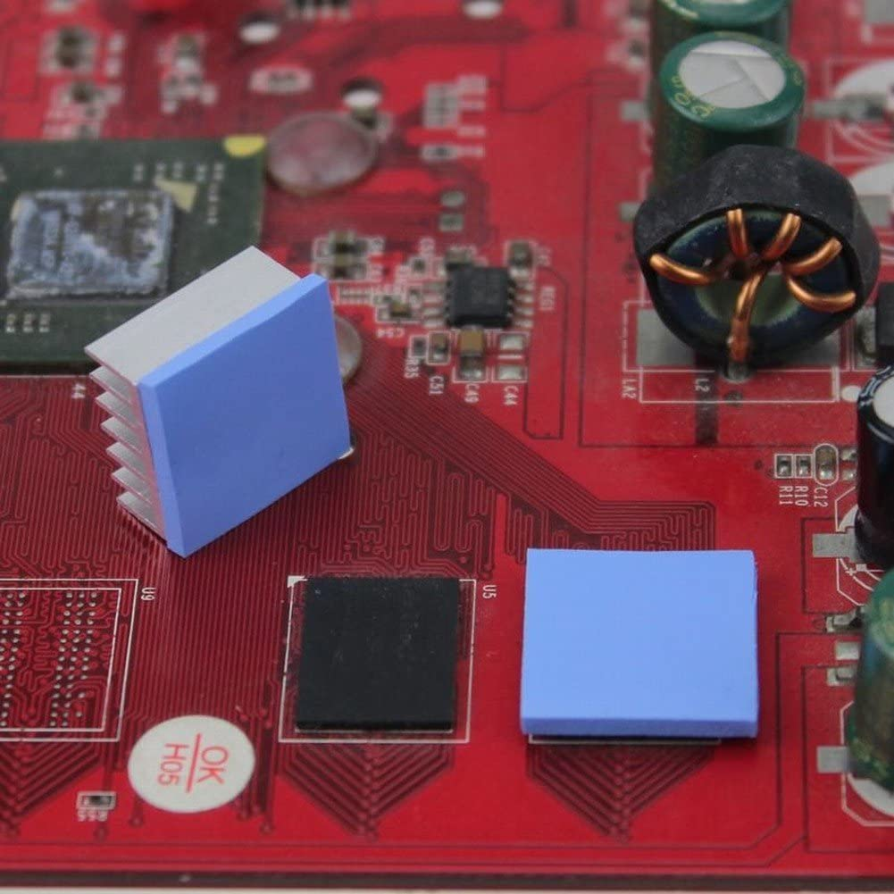 Vanki 15x15x1mm Soft Thermal Conductive Pads Heatsink IC Chipset Northbridge Pack Of 16
