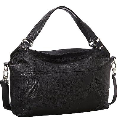 08fbcba40b8e Derek Alexander EW Top Zip Shoulder Bag (Black): Handbags: Amazon.com