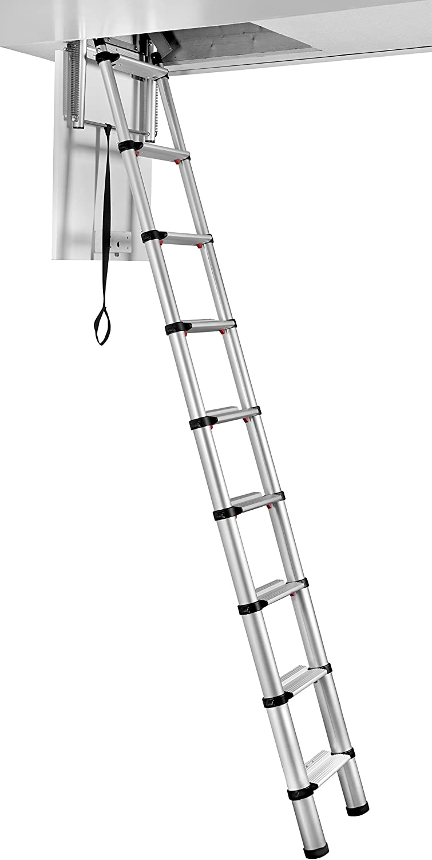 60927-101 Maxi Telescopic Loft Ladder Telesteps TEL60927101 Echelle t/élescopique de grenier Silver