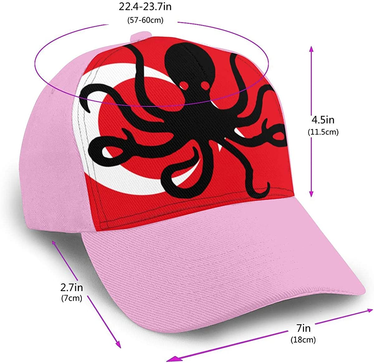 Y94OIW@MAO Octopus Turkey Flag Trucker Hat for Men and Women Cotton Mountaineering Cap