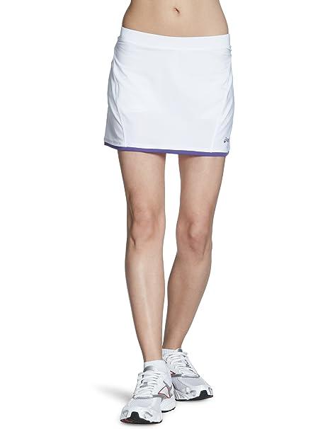 ASICS - Falda de pádel para Mujer, tamaño XXL, Color Blanco/Morado: Amazon.es: Ropa y accesorios
