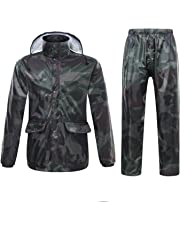 d1b811ebba31 Freiesoldaten Hommes Femmes Imperméable Veste Pantalon Costumes  Coupe-Vent Pantalon Ensemble Moto