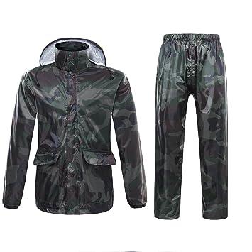 Chaqueta impermeable para hombre o mujer con capucha, diseño camuflado de Ynport Crefreak: Amazon.es: Deportes y aire libre