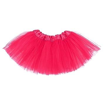 Ksnnrsng Falda de Tul para niñas Falda de tutú Minifalda Vestido ...