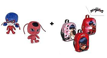 Prodigiosa, Las aventuras de Ladybug - Pack 1 Mochila 29cm (modelo aleatorio) +