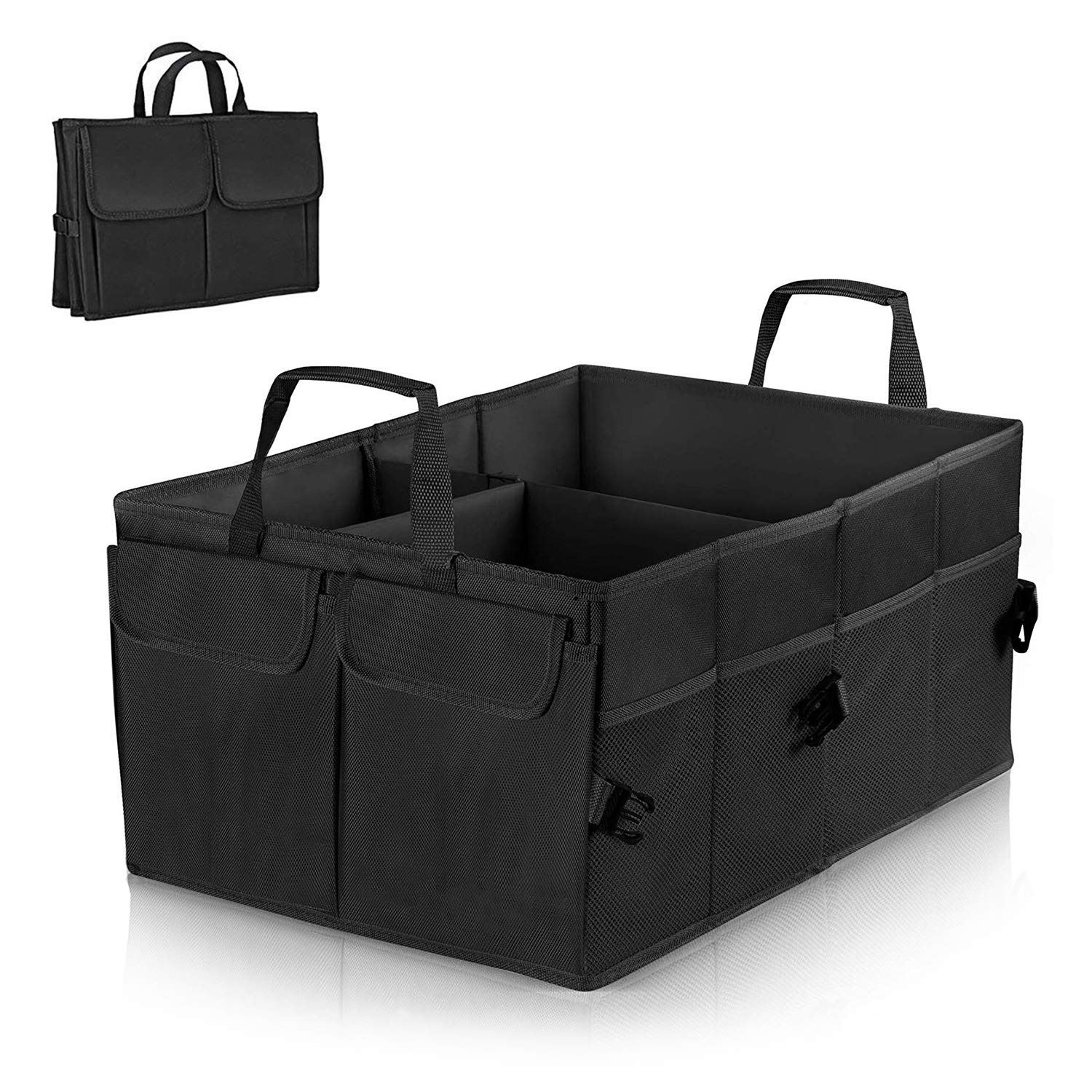 Linkax Car Boot Organiser Trunk Organiser Auto Storage Organizer Car Truck Storage Bag Car Boot Bag Foldable Oxford Fabric Trunk Storage Box for Car Truck SUV and Indoor