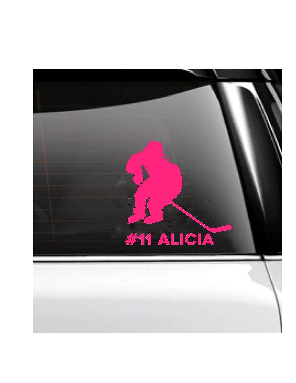 Hockey Woman Female Girl Car Decal