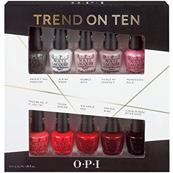 opi nail polish mini kit trend on ten 2014 10 x 3 75ml new boxed