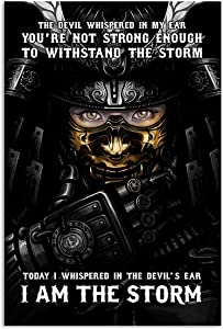 Samurai Poster| You're Not Strong Enough Withstand The Storm Whispered In The Devil's Ear I'm The Storm Vertical Poster|Gift for Home Decor Wall Art Print Poster| Full Size 12x18 16x24 24x36 27x40|