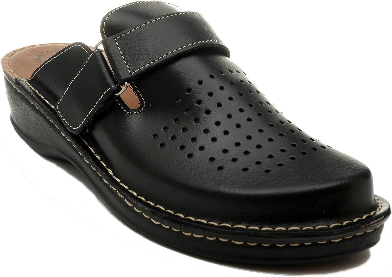 Dr Punto Rosso BRIL U20 Sabots Mules Chaussons Chaussures en Cuir Hommes