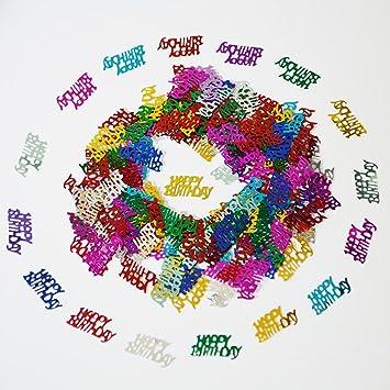 amazon com happy birthday confetti 50g 1000 pieces multi colors
