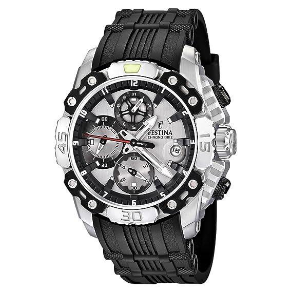 8d768c33b6bd Festina F16543 1 - Reloj cronógrafo de Cuarzo para Hombre con Correa de  Caucho