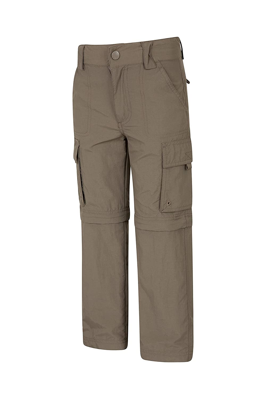 Pantaloni Leggeri per Bambini Tasche Pantaloni ad Asciugatura Rapida Pantaloni Casual Facili da Lavare Mountain Warehouse Pantaloni trasformabili per Bambini Active