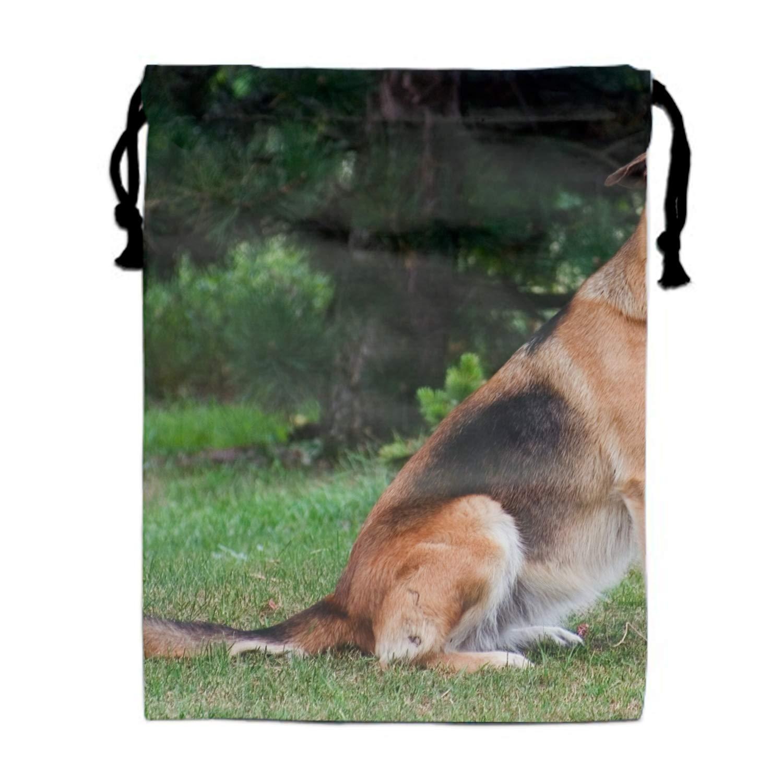 German Shepherd Drawstring Portable Storage Shoe Outdoor Travel Bag Dustproof Gift Bags